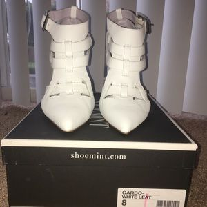 Shoemint white caged heels